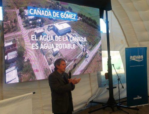 Ampliación de la producción de agua e inauguración de un Centro de Atención de Usuarios en Cañada de Gómez.